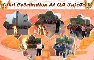 lohri celebration at QA InfoTech