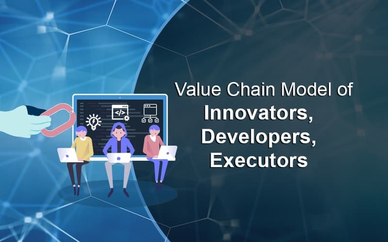 innovators, developers & executers value chain