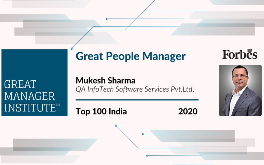 Forbes Top 100 Great People Managers in India for 2020